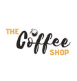 the coffee shop coffee pot white background vector image vector image