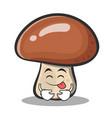 tongue out mushroom character cartoon vector image