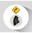 turn right road sign concept graphic vector image vector image
