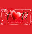 valentines day poster i love you romantic vector image