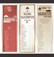 vintage barbecue retro banner collection vector image vector image