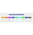 web development infographics design vector image vector image
