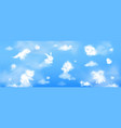 white clouds in shape cute animals in sky vector image