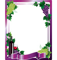 wine frame vector image vector image