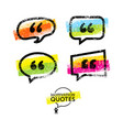 set of quote bubbles templates bright vector image