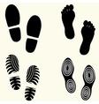 Feet prints set vector image