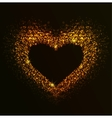Golden Heart of notes vector image