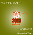 Year of the Monkey 01 vector image