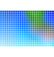 blue green red square mosaic background over white vector image