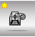 3d printer black icon button logo symbol vector image vector image