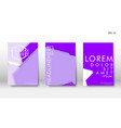 abstract cover with hexagon elements book design vector image