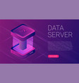 abstract data server isometric icon digital vector image vector image