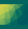 abstract green background with polygonal pattern vector image vector image