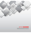 abstract square background with grey white and vector image vector image