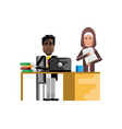 african businessman working in office vector image