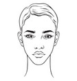 beautiful african american woman portrait vector image