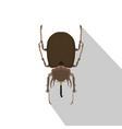 beetle rhinoceros bug rhino silhouette nature vector image