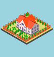 big manor in isometric and vector image