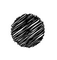 black abstract circle sketchy scribble background vector image vector image
