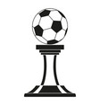 black and white soccer ball winner award vector image