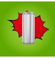 Blank aluminium can vector image vector image