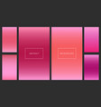 bright red and pink gradients backgrounds set vector image vector image