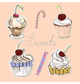card with sweets vector image