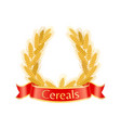 cereal wheat wreath poster vector image