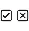 check mark wrong mark black icon vector image vector image