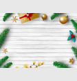 christmas decoration design with copy space vector image