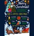christmas holidays new year greeting sketch vector image vector image