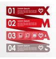 Christmas infographics options banner business vector image