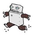comic cartoon running robot vector image vector image