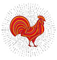 Creative stylized rooster vector image