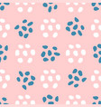 cute seamless pattern with abstract shapes drawn vector image vector image
