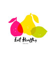 eat healthy symbols vector image