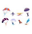 extreme sports recreation parachute sportsman vector image vector image