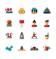 Flat design China travel icons infographics vector image