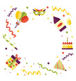 flat happy birthday card template vector image vector image