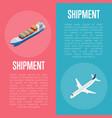 freight shipment isometric banner set vector image
