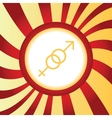Gender signs abstract icon vector image vector image