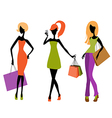 girls shopping vector image vector image