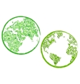 Green Eco Globes vector image vector image