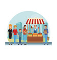 grocery stand at city vector image