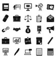 gross product icons set simple style vector image