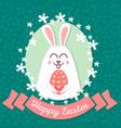happy easter rabbit happy easter backgrounds vector image vector image