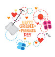 happy grandparents day greeting card banner vector image