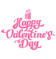 happy valentines day hand drawing with candles vector image vector image