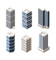high rise modern buildings isometric vector image vector image