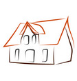 house drawing on white background vector image vector image